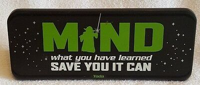 Hallmark Yoda Star Wars Mind What You Have Learned Save You It Can Plaque