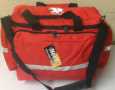 Safety First Aid EMS EMT Paramedic Medical Emergency Gear Carry Bag in RED