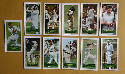 CRICKET All 11 AUSTRALIA cricketers from Score UK CHAMPIONS SPORT trade card set