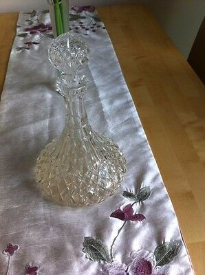 Ships decanter,gorgeous cut glass crystal for port or red wine