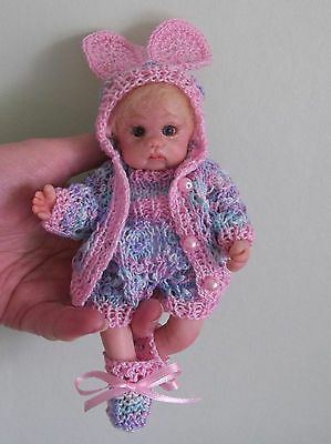 Hand made polymer clay 6 inch OOAK sculpt baby girl doll by Minnieooaks