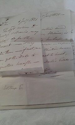 original  English hand written documents  1821