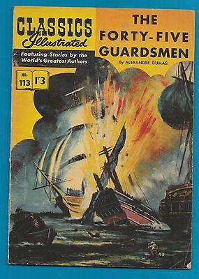 Classics Illustrated Comic  The 45 Guardsmen by Alexandre Dumas #919
