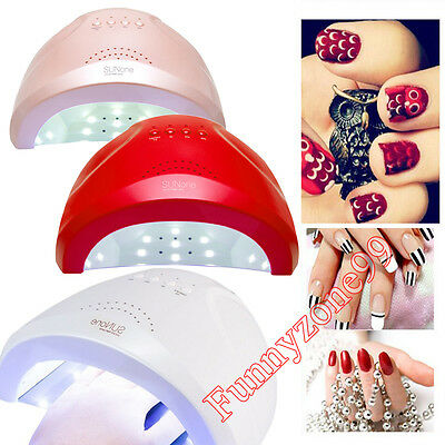 SUNone 48W UV LED NAIL GEL POLISH DRYER LAMP AUTO LIGHT 3 TIMERS REMOVABLE TRAY