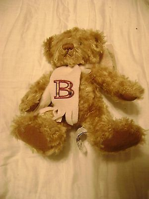 Burberry Teddy Bear Plush Stuffed with Scarf 10 Inches Tall