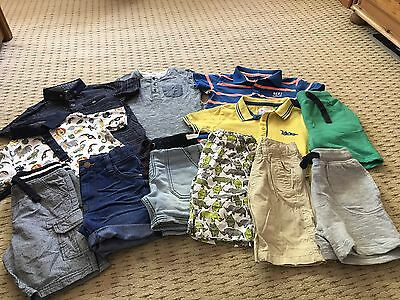 Boys  Summer Bundle shorts tops  Age 3-4 & 4 Yrs  (Works Out Only £2 Each)
