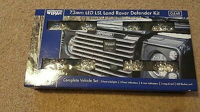 Land Rover Defender Led Deluxe Clear Upgrade Lamp Light Kit + Reverse And Fog