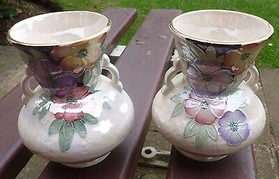 A Stunning pair of  Art Deco Maling Pearl Lustre Vases -  c1930's     Gorgeous!