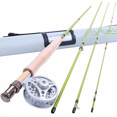 Fly Rod Combo 2/3WT Medium-fast Fly Fishing Rod & Aluminum Fly Reel
