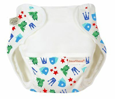 Organic Cotton Nappy Cover Magic Dragon Print S-Large (13-17 kg)