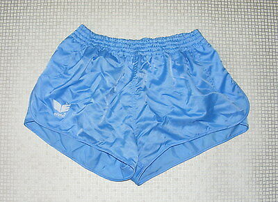 Size S vintage 80s Erima high cut sprinter running shorts shiny baby blue (IA06)