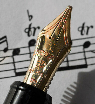 "PLATINUM 3776 FOUNTAIN PEN WITH 14ct GOLD  ""MUSIC NIB"" -  WOW LOOOOK"