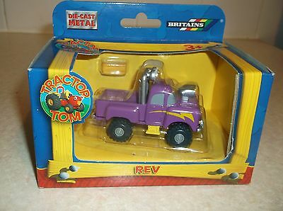 RARE Britains TRACTOR TOM DieCast Metal REV Farm Truck Car PlayToy IN BOX New