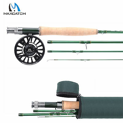 Fly Fishing Combo 5WT 9FT Fly Fishing Rod & CNC Machined Fly Reel 5/6WT