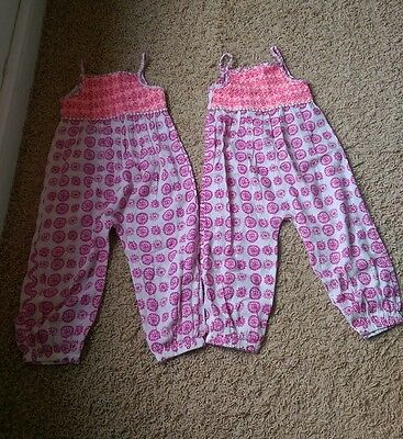 twin girls gorgeous light summery playsuits 2-3 years