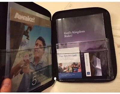 MAGAZINE FOLDER, (For Magazines & Tracts) YOUR CHOICE COLOR, Jehovah's Witness