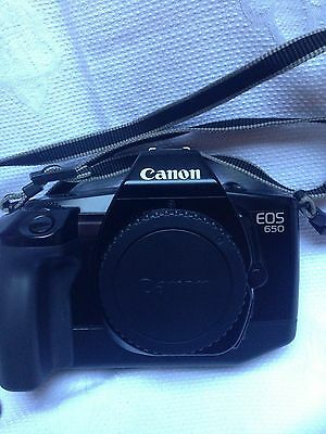 canon camera EOS650 slr with lens 2 flashguns  2 manuals
