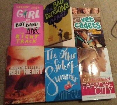 Bulk Lot 6 Children/Teenager Books - Vet Cadets Pudding in Peril Girl v Boy Band