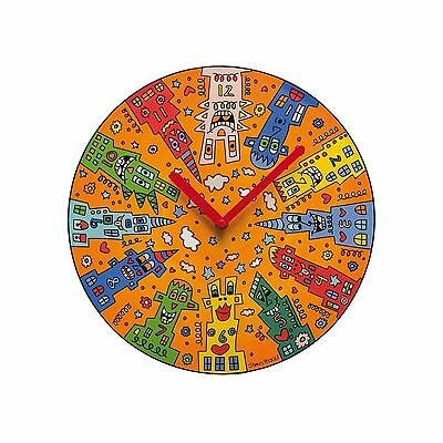 "James Rizzi: Wanduhr, Uhr ""CITY SUNSET"", 30,5 cm, Goebel Porzellan, neu & 1.Wahl"