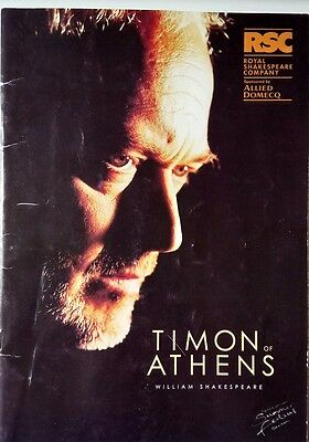 "THEATRE PROGRAMME / RSC 1999 / ""TIMON OF ATHENS by SHAKESPEARE/ MIKE PENNINGTON"