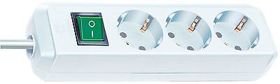 Brennenstuhl 1152920 Eco-Line extension socket with switch 3-way 5m H05VV-F 3...