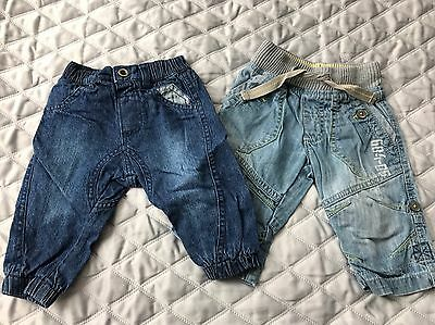 Baby Boys Jeans, 3-6 Months, Next And George, Bundle