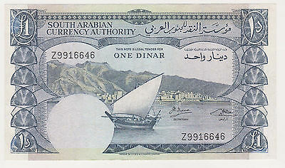 YEMEN --South Arabia-- 1 dinar 1965 VF replacement Z99 prefix rare P.3b