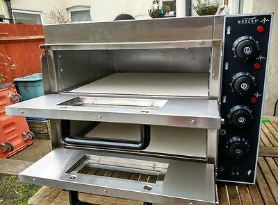 "Commercial Electric Double Deck Stone pizza oven catering equipment."" Brand New"