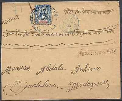Madagascar Letter Cover Addressed Locally With Certificate (2 Letters Known)