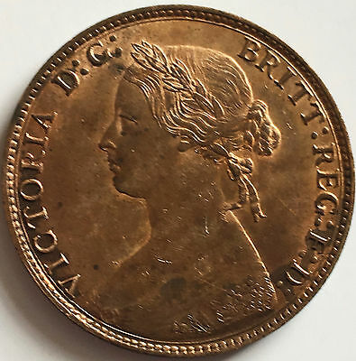 1874h half penny Uncirculated good lustre