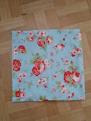 Cath Kidston blue pink and red floral shabby chic cushion cover