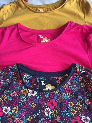 Girls 3 Pack Long Sleeve Tops Age 11years