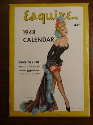 1948 ESQUIRE Calendar Pinup Girls Risque Complete With Envelope * Beautiful