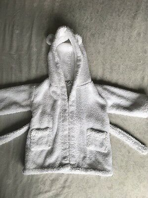 The Little White Company Hydrocotton Baby Robe  0-6 Months