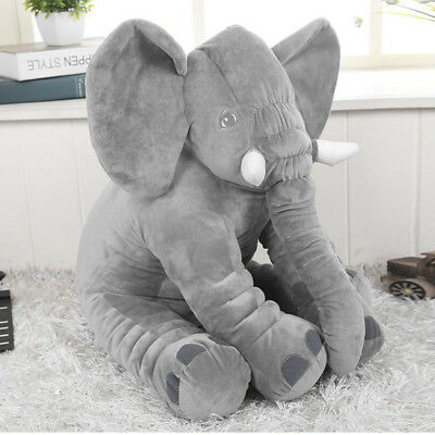 Baby Children Long Nose Large Elephant Doll Soft Plush Stuff Toys Lumbar Pillow