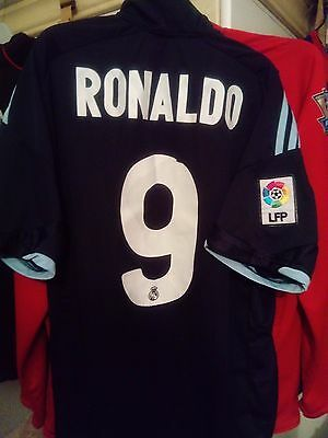 "Classic Real Madrid 2009/2010 ""RONALDO"" #9 Adidas away jersey maillot taille M"