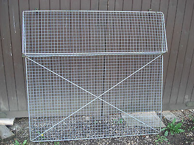 PORTABLE CABIN/WORKSHOP/SHED WINDOW SECURITY GRILLS x 4, WITH WINDOW OPENINGS