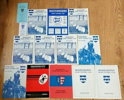 Musselburgh Rugby Union Programmes 1990 - 1994