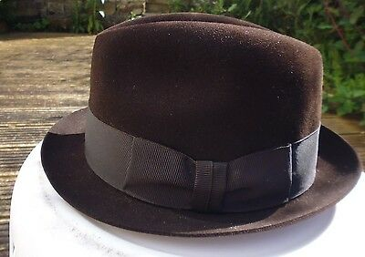 Dunn & Co Vintage Dark Brown Felt Trilby 7
