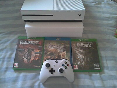 Microsoft Xbox One S  TB White Console with games (boxed)