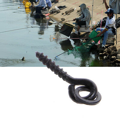 15mm 25pcs Carp Fishing Screw Bait Carp Hair Rigs Hook Terminal Tackle With Ring