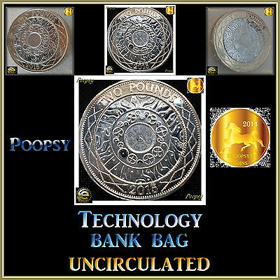 2015 Technology £2 Two Pound Bank Uncirculated Royal Mint Coin Hunt Album *22