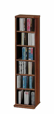 VCM 12052 VCM CD Rack for 102 CDs Walnut Tree Wood core walnut