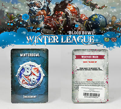 Warhammer BLOOD BOWL LIMITED 6th EDITION  WINTERBOWL INDUCEMENT CARDS (GW 16)