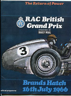 Motor Racing British Grand Prix Programme 1966 Brands Hatch