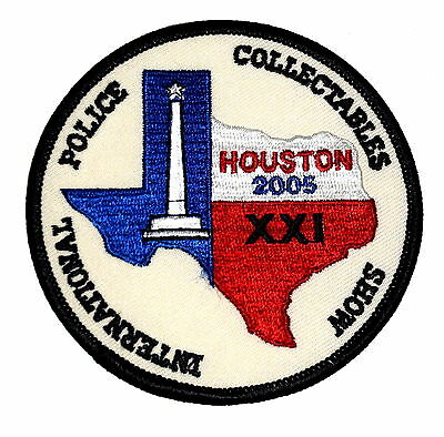HOUSTON – INTER POLICE COLLECTABLES SHOW XXI – TEXAS TX Police Sheriff Patch ~