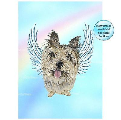 Cairn Terrier Angel Art Print Dog Memorial Dog With Angel Wings