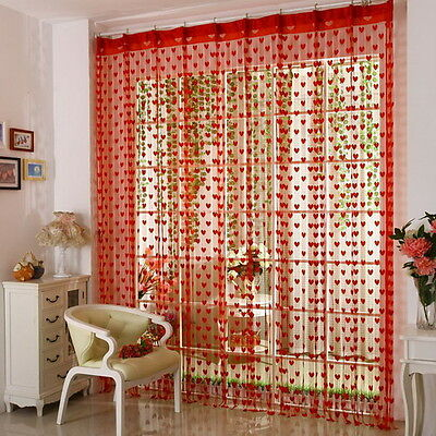 Gracious Panel Line String Fringe Drape Wall Home Divider Door Curtain