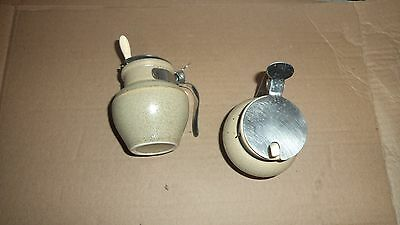 French mustard pot with serving spoon