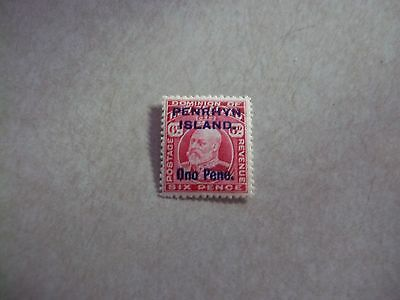 """PENRHYN COOK ISLANDS Stamps SG 22 Scott 15 VARIETY """"O""""  LIKE A """"Q""""  in ONO NH"""
